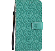 cheap -Case For Motorola MOTO G5 Plus MOTO G5 Card Holder Wallet with Stand Flip Pattern Full Body Cases Solid Color Lace Printing Hard PU