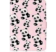 cheap -Case For Samsung Card Holder Wallet with Stand Pattern Auto Sleep/Wake Up Full Body Cases Panda Hard PU Leather for Tab S3 9.7 Tab E 9.6