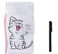 cheap -Case For Huawei P10 Plus P10 Lite Card Holder Wallet Flip Full Body Cases Cat Hard PU Leather for P10 Plus P10 Lite P10 Huawei P9 Lite