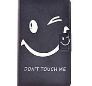 Недорогие -Кейс для Назначение SSamsung Galaxy Tab 3 Lite Бумажник для карт со стендом Флип С узором Чехол Слова / выражения Твердый Кожа PU для Tab