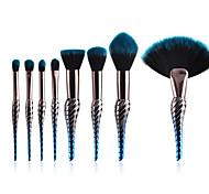 Недорогие -10 в комплекте Кисть для пудры Кисть для румян Наборы кистей Синтетические волосы Для профессионалов Градиент Анодированный алюминий