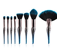 cheap -10-Pack Powder Brush Blush Brush Makeup Brush Set Synthetic Hair Professional Color Gradient Anodized Aluminum Eye Face