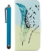 cheap -Case For Apple iPhone X iPhone 8 Plus Card Holder Wallet with Stand Flip Magnetic Full Body Cases Feathers Animal Hard PU Leather for