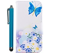 cheap -Case For Samsung Galaxy A8 2018 A5(2017) Card Holder Wallet with Stand Flip Magnetic Full Body Cases Butterfly Hard PU Leather for