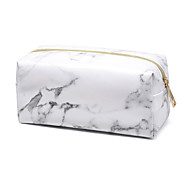 cheap -Cosmetic Bag Marble Quadrate PU Leather