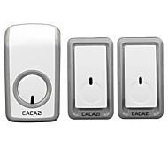 Недорогие -Дзынь-дзынь Музыка Двойной к одному дверному звонку Регулируемый звук Беспроводное дверной звонок 350 Крепеж на поверхности