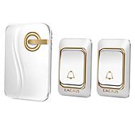 Недорогие -Дзынь-дзынь Музыка Двойной к одному дверному звонку Регулируемый звук Беспроводное дверной звонок 200 Крепеж на поверхности