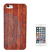 cheap -Case For Apple iPhone 6 iPhone 6 Plus Shockproof Full Body Cases Flower Hard Wooden for iPhone 6s Plus iPhone 6s iPhone 6 Plus iPhone 6