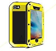 Недорогие -Кейс для Назначение Apple Кейс для iPhone 5 Вода / Грязь / Надежная защита от повреждений Чехол Сплошной цвет Твердый Металл для iPhone