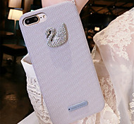 cheap -Case For Apple iPhone 6 Plus iPhone 7 Plus Rhinestone Pattern Back Cover Solid Colored Soft Silicone for iPhone 8 Plus iPhone 8 iPhone 7