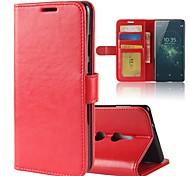 preiswerte -Hülle Für Sony Xperia XA2 Ultra Xperia XZ2 Kreditkartenfächer Geldbeutel mit Halterung Flipbare Hülle Magnetisch Ganzkörper-Gehäuse