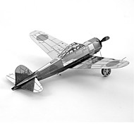 cheap -Mitsubishi A6M Zero 3D Puzzles Metal Puzzles Fighter Aircraft Creative Focus Toy Hand-made Metal Military Standing Style Toy Girls' Boys'