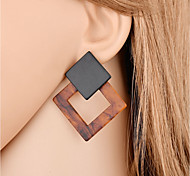 cheap -Women's Geometric Drop Earrings - Fashion Dark Brown For Gift / Evening Party