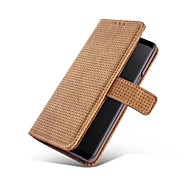 cheap -Case For Samsung Galaxy S9 S9 Plus Card Holder Wallet with Stand Full Body Cases Solid Color Hard Genuine Leather for S9 Plus S9 S8 Plus
