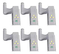 abordables -YWXLIGHT® 6pcs LED Night Light Blanc Froid Autre alimenté par batterie Armoire Placard Détecteur Sécurité à la maison Décoration