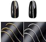 Недорогие -1pcs Гель для ногтей металлический Одежда в стиле Панк Дизайн ногтей
