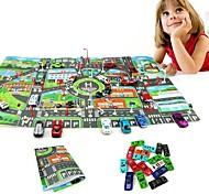 Недорогие -10Pcs Cars &1Pcs Map 83*58CM City PARKING LOT Roadmap Игрушечные машинки Игрушки Автомобиль Транспорт Карты Металлический сплав Куски