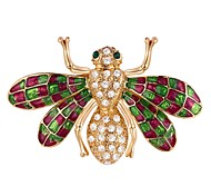 cheap -Women's Lovely Bee Rhinestone Brooches - Cartoon Silver / Golden Brooch For Masquerade / Prom