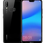 abordables -Protector de pantalla Huawei para Huawei P20 lite PET Vidrio Templado 3 piezas Protector frontal y posterior y lente de la cámara