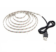 cheap -1m Flexible LED Light Strips 60 LEDs Warm White Cold White Decorative USB Powered DC 5V 1pc