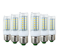 cheap -YWXLIGHT® 6pcs 6W 600-700 lm E26/E27 LED Corn Lights 56 leds SMD 5730 Warm White Cold White 110-130V 220-240V