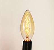 Недорогие -e14 25w c35 горящий наконечник желтого света 220v лампа edison small lo lo ретро ретро источник света