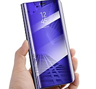 cheap -Case For Samsung Galaxy S9 S9 Plus with Stand Mirror Flip Auto Sleep/Wake Up Full Body Cases Solid Color Hard PU Leather for S9 Plus S9