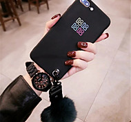 cheap -Case For Apple iPhone 6 Plus iPhone 7 Plus Pattern Back Cover Word / Phrase Soft Silicone for iPhone 8 Plus iPhone 8 iPhone 7 Plus iPhone