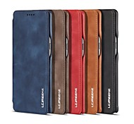 cheap -Case For Samsung Galaxy Note 8 Card Holder Shockproof Flip Full Body Cases Solid Colored Hard Genuine Leather for Note 8