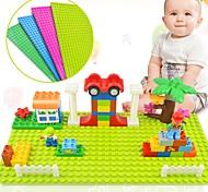 Недорогие -Big Size Blocks Base Plate 32*16 Dots 51*25.5 cm Baseplate Взаимосоединяющиеся блоки Игрушки Игрушки Прямоугольник Семья Высокое качество