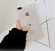 Недорогие -Кейс для Назначение Apple iPhone X iPhone 7 Plus С узором Кейс на заднюю панель Сияние и блеск Мягкий ТПУ для iPhone X iPhone 8 Pluss