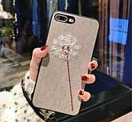 cheap -Case For Apple iPhone X iPhone 7 Plus Pattern Back Cover Solid Color Soft Textile for iPhone X iPhone 8 Plus iPhone 8 iPhone 7 Plus