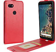 cheap -Case For Google Pixel 2 XL Pixel 2 Card Holder Flip Full Body Cases Solid Color Hard PU Leather for Google Pixel 2 XL Pixel 2