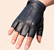 cheap -Half-finger Men's Motorcycle Gloves Faux Leather Wearable Non-Skid Breathability