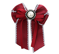 cheap -Women's Brooches Rhinestone Formal Elegant Fashion Fabric Plastic Bowknot Jewelry For Graduation School