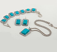 cheap -Women's Turquoise Jewelry Set - Resin Ethnic, Fashion Include Blue For Party / Evening Party / Earrings