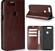 cheap -Case For OnePlus OnePlus 5T 5 Card Holder Wallet Shockproof with Stand Flip Full Body Cases Solid Color Hard Genuine Leather for One Plus