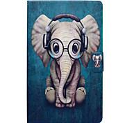 cheap -Case For Samsung Galaxy Tab E 9.6 Card Holder with Stand Flip Pattern Full Body Cases Elephant Hard PU Leather for Tab E 9.6