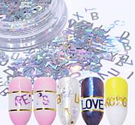 economico -1 Polvere di glitter Con lustrini Laser Holografico Brillante e glitterato Decorazioni Nail Art Design