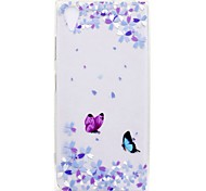 cheap -Case For Sony Xperia L2 Xperia XA2 Ultra Transparent Pattern Back Cover Butterfly Soft TPU for Xperia XA2 Xperia XA2 Ultra Xperia XZ1