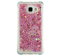 cheap -Case For Samsung Galaxy A8 2018 A8 Plus 2018 Shockproof Flowing Liquid Glitter Shine Back Cover Heart Glitter Shine Soft TPU for A3(2017)