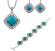 cheap -Women's Turquoise Jewelry Set - Resin Fashion Include Blue For Evening Party / Bar / Earrings