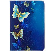 Недорогие -Кейс для Назначение Apple iPad mini 4 iPad Mini 3/2/1 Бумажник для карт Кошелек со стендом С узором Авто Режим сна / Пробуждение Чехол