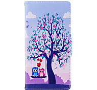 cheap -Case For Sony Xperia L2 Xperia XA2 Ultra Card Holder Wallet with Stand Flip Pattern Full Body Cases Tree Owl Hard PU Leather for Xperia