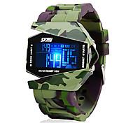 Недорогие -SKMEI Муж. Цифровой электронные часы Армейские часы Спортивные часы Будильник Календарь Секундомер Защита от влаги ЖК экран силиконовый
