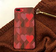 Недорогие -Кейс для Назначение Apple iPhone X / iPhone 7 Plus С узором Кейс на заднюю панель С сердцем Твердый Акрил для iPhone X / iPhone 8 Pluss /