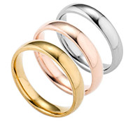 cheap -Men's Silver Plated / Gold Plated Band Ring - Geometric Fashion Gold / Silver / Rose Ring For Daily