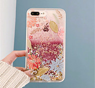 cheap -Case For Apple iPhone 6 Plus iPhone 7 Plus Flowing Liquid Pattern Back Cover Glitter Shine Hard PC for iPhone 8 Plus iPhone 8 iPhone 7