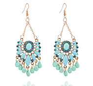 cheap -Women's Synthetic Tanzanite Rhinestone Imitation Diamond Drop Earrings - Casual Fashion Geometric Drop For Daily Going out