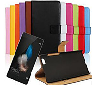 Недорогие -Кейс для Назначение Huawei P8 Huawei Huawei P8 Lite P8 Lite P8 Кейс для Huawei Бумажник для карт Кошелек со стендом Флип Чехол Сплошной